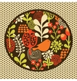 Birds and flowers textile pattern vector image
