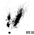 black drops of paint and stains ink blots ink vector image