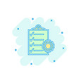 cartoon document icon in comic style project vector image vector image