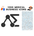 chemical formula icon with 1300 medical business vector image