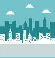 color scene city landscape background in vector image