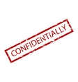 confidentially rubber stamp vector image vector image