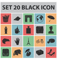 country france black icons in set collection for vector image vector image