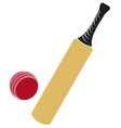 cricket bat and cricket ball vector image
