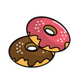 donuts of differents flavors icon vector image