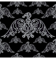 Eagle silhouettes on black background vector image vector image
