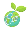 Eco earth green planet vector image