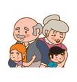 elder couple children grandsons family vector image