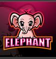 elephant mascot esport logo design vector image vector image
