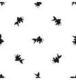 fish pattern seamless black vector image vector image