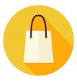 Flat Design Shopping Bag Circle Icon vector image