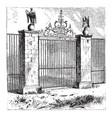 gate walls vintage engraving vector image vector image
