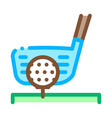 golf putter ball icon outline vector image