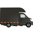 gray delivery truck vector image vector image