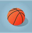 isometric basketball vector image vector image