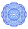 Lacy ornate blue napkin vector image vector image
