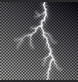 lightning bolt isolated on dark checkered backgrou vector image vector image