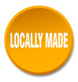 locally made orange round flat isolated push vector image vector image