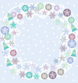 Merry Christmas Card turquoise lilac and purple vector image vector image