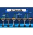 Modern bridge city night view vector image vector image