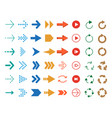 modern colored arrows icon set vector image vector image