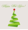 Modern design christmas tree Happy New Year vector image vector image
