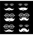 mustache man emotion icon set design vector image