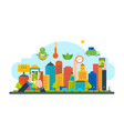 New eco-friendly technology infrastructure vector image