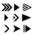 next arrows black flat signs vector image