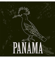 Panama landmarks Retro styled image vector image vector image