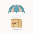 parachute box package vector image vector image
