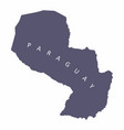 paraguay silhouette map vector image vector image