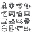 password icons set on white background vector image