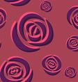 Pattern of dark purple roses vector image vector image