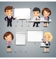 Peoples Gives a Presentation or Seminar vector image vector image