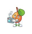 photographer ripe shipova cartoon character mascot vector image vector image