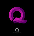 q monogram ribbon vector image