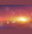 realistic sunlight effect with blurry bokeh vector image vector image