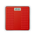 red weigh scales on the white background vector image
