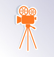 Retro movie camera icon vector image vector image