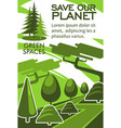 save planet and nature resources eco banner design vector image vector image