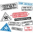 security rubber stamps vector image