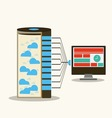 Server and work stations computing vector image
