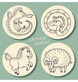 set chinese zodiac signs vector image vector image