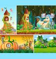 set fantasy background vector image