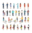 Set of Customers and Sellers Characters vector image