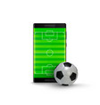 sport betting online mobile phone with football vector image vector image