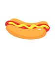 street food of hotdog icon isometric style vector image