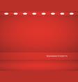 studio background empty red studio for vector image