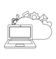 technology computing cartoon vector image vector image